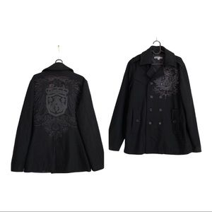 Archaic by affliction wool coat